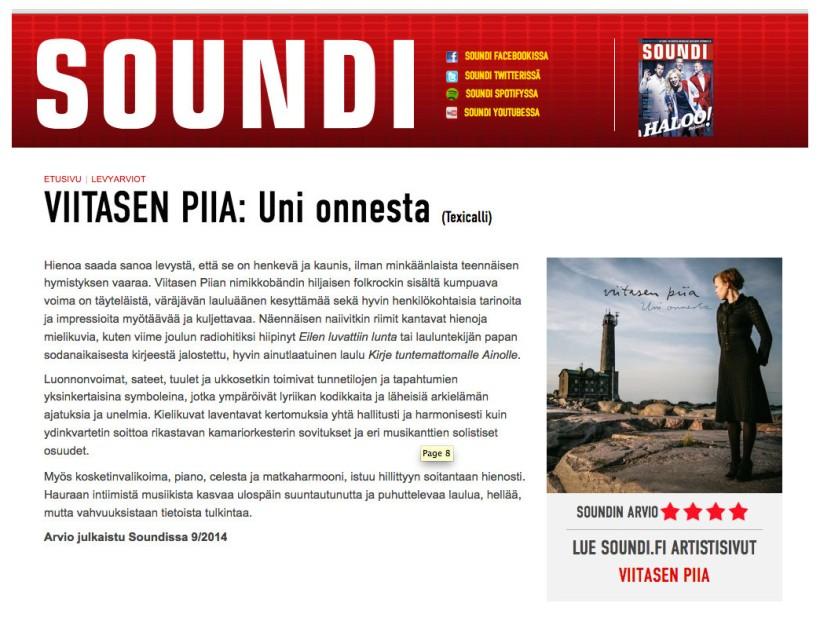 Soundi 9/2014 -Asko Alanen