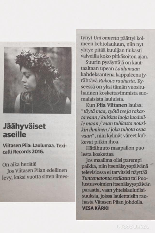 Kaleva 25.11.2016 / Vesa Kärki